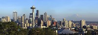 Seattle city skyline with Mt. Rainier in the background, King County, Washington State, USA 2010 Fine Art Print
