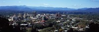 """Aerial view of a city, Asheville, Buncombe County, North Carolina, USA 2011 by Panoramic Images, 2011 - 27"""" x 9"""", FulcrumGallery.com brand"""