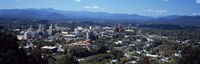 """Aerial view of a city, Asheville, Buncombe County, North Carolina, USA by Panoramic Images - 27"""" x 9"""", FulcrumGallery.com brand"""