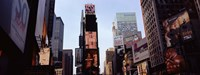 """Low angle view of buildings, Times Square, Manhattan, New York City, New York State, USA 2011 by Panoramic Images, 2011 - 27"""" x 9"""""""