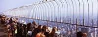 """Tourists at an observation point, Empire State Building, Manhattan, New York City, New York State, USA by Panoramic Images - 27"""" x 9"""", FulcrumGallery.com brand"""