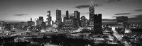 Atlanta skyline in black and white, Georgia, USA Fine Art Print