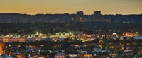 """Century City at dusk, Culver City, Los Angeles County, California by Panoramic Images - 27"""" x 9"""""""