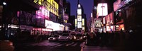 """Street scene at night, Times Square, Manhattan, New York City by Panoramic Images - 27"""" x 9"""""""