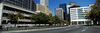 """Buildings in a city, Downtown Denver, Denver, Colorado, USA by Panoramic Images - 27"""" x 9"""""""