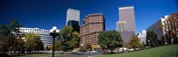 """Buildings in a city, Downtown Denver, Denver, Colorado, USA 2011 by Panoramic Images, 2011 - 27"""" x 9"""""""