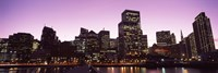 """San Francisco Waterfront Lit Up at Dusk, California, USA by Panoramic Images - 27"""" x 9"""""""