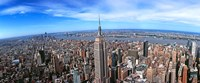 Aerial view of New York City with empire state building, New York State Fine Art Print