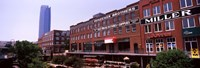 """Bricktown Mercantile building along the Bricktown Canal with Devon Tower in background, Bricktown, Oklahoma City, Oklahoma by Panoramic Images - 27"""" x 9"""""""