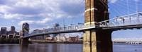 John A. Roebling Bridge across the Ohio River, Cincinnati, Ohio Framed Print