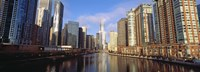 """Skyscraper in a city, Trump Tower, Chicago, Cook County, Illinois, USA by Panoramic Images - 27"""" x 9"""""""