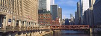 """Building at the waterfront, Merchandise Mart, Chicago River, Chicago, Cook County, Illinois, USA by Panoramic Images - 27"""" x 9"""", FulcrumGallery.com brand"""