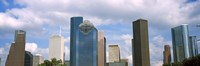 "Low angle view of skyscrapers, Houston, Texas, USA by Panoramic Images - 27"" x 9"", FulcrumGallery.com brand"
