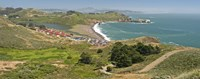 """High angle view of a coast, Marin Headlands, Rodeo Cove, San Francisco, Marin County, California, USA by Panoramic Images - 27"""" x 10"""""""