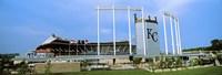 "Baseball stadium in a city, Kauffman Stadium, Kansas City, Missouri by Panoramic Images - 27"" x 9"", FulcrumGallery.com brand"
