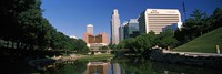 """Buildings at the waterfront, Qwest Building, Omaha, Nebraska by Panoramic Images - 27"""" x 9"""""""