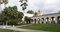 """Colonnade in Balboa Park, San Diego, California, USA by Panoramic Images - 27"""" x 9"""""""