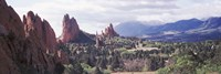 """Rock formations on a landscape, Garden of The Gods, Colorado Springs, Colorado by Panoramic Images - 27"""" x 9"""" - $28.99"""
