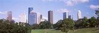 Downtown skylines, Houston, Texas Fine Art Print