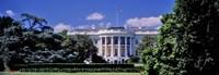 Facade of the government building, White House, Washington DC, USA Fine Art Print