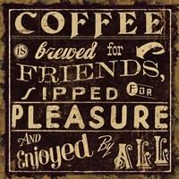 Coffee Quote II by Pela Studio - various sizes