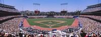 Spectators watching a baseball match, Dodgers vs. Yankees, Dodger Stadium, City of Los Angeles, California, USA Fine Art Print
