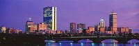 """Bridge with city at the waterfront, Charles River, Back Bay, Longfellow Bridge, Boston, Suffolk County, Massachusetts by Panoramic Images - 27"""" x 9"""", FulcrumGallery.com brand"""