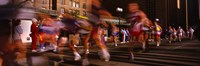 Blurred Motion Of Marathon Runners, Houston, Texas, USA Fine Art Print