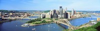 Daytime Skyline With The Alleghany River, Pittsburgh, Pennsylvania, USA Fine Art Print