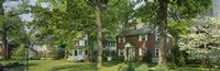 "Facade Of Houses, Broadmoor Ave, Baltimore City, Maryland, USA by Panoramic Images - 36"" x 12"" - $34.99"