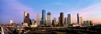 "USA, Texas, Houston, twilight by Panoramic Images - 36"" x 12"" - $34.99"