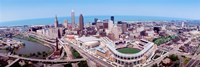 "Aerial View Of Jacobs Field, Cleveland, Ohio, USA by Panoramic Images - 36"" x 12"""