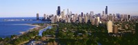 "Aerial View Of Skyline, Chicago, Illinois, USA by Panoramic Images - 36"" x 12"""