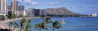 Waikiki Beach, Honolulu, Hawaii, USA Fine Art Print