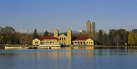 """Buildings at the waterfront, City Park Pavilion, Denver, Colorado, USA by Panoramic Images - 36"""" x 12"""""""
