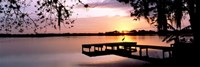 Sunrise Over Lake Whippoorwill, Orlando, Florida, USA Framed Print
