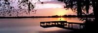 Sunrise Over Lake Whippoorwill, Orlando, Florida, USA Framed Print