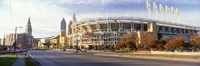 Low angle view of baseball stadium, Jacobs Field, Cleveland, Ohio, USA Fine Art Print
