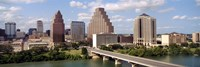 """Buildings in a city, Town Lake, Austin, Texas, USA by Panoramic Images - 36"""" x 12"""""""