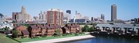 """High Angle View Of City Buildings, Erie Basin Marina, Buffalo, New York State, USA by Panoramic Images - 36"""" x 12"""""""
