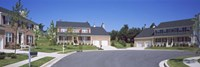 """Houses Along A Road, Seaberry, Baltimore, Maryland, USA by Panoramic Images - 36"""" x 12"""""""