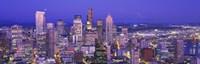 "USA, Washington, Seattle, cityscape at dusk by Panoramic Images - 36"" x 12"""
