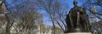 """Low angle view of a statue of Abraham Lincoln in a park, Grant Park, Chicago, Illinois, USA by Panoramic Images - 36"""" x 12"""""""