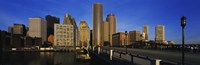 """Skyscrapers in a city, Boston, Massachusetts, USA by Panoramic Images - 36"""" x 12"""", FulcrumGallery.com brand"""