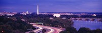 """High angle view of a cityscape, Washington DC, USA by Panoramic Images - 36"""" x 12"""", FulcrumGallery.com brand"""