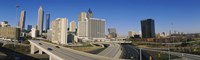 """Skyscrapers in a city, Cityscape, Atlanta, Georgia, USA by Panoramic Images - 36"""" x 12"""", FulcrumGallery.com brand"""