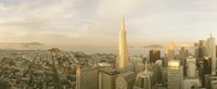 """USA, California, San Francisco, Skyline with Transamerica Building by Panoramic Images - 36"""" x 14"""""""