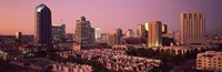 "Buildings in a city, San Diego, San Diego County, California, USA by Panoramic Images - 36"" x 12"""
