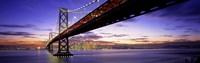 "Bay Bridge at Twilight by Panoramic Images - 36"" x 12"""