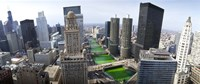 """St. Patrick's Day Chicago IL USA by Panoramic Images - 36"""" x 15"""", FulcrumGallery.com brand"""